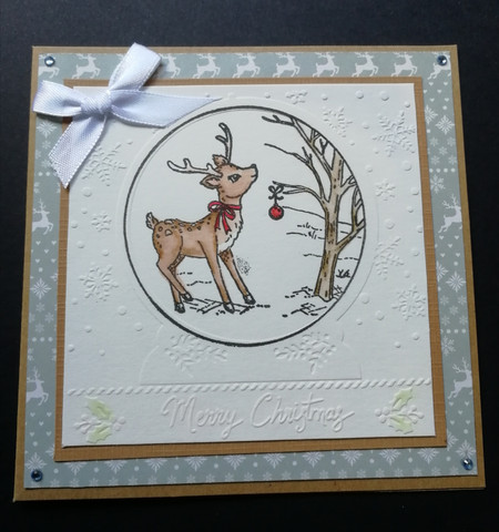 Pikku peura joulukortti