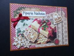 Piparin tuoksua joulukortti
