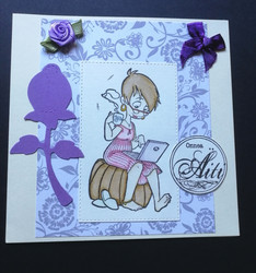 Violet congratulations Mom card