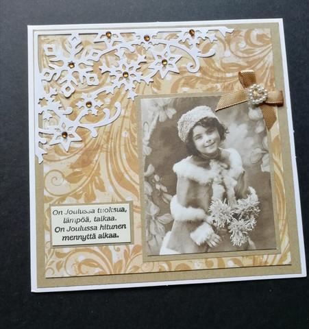 Vintage Christmas card and poem