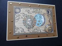 Sun and moon handmade card