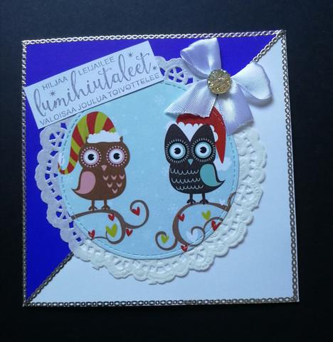 Christmas Card Owls