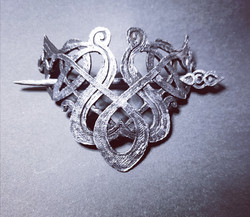 Viking hair buckle and pin
