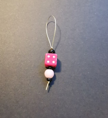 Magenta dice place marker