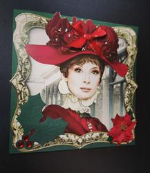 Woman christmas card