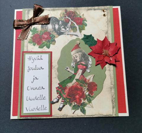 Alice themed Christmas card