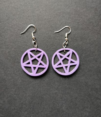 Violetit pentagrammi korvakorut