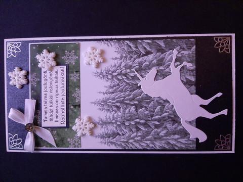 Joulukortti yksisarvinen