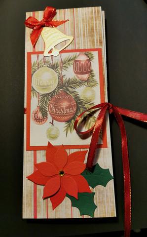 Vintage christmas Ball Chocolate bar card