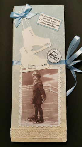 Vintage girl Chocolate bar card