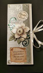 Chocolate bar card with flower