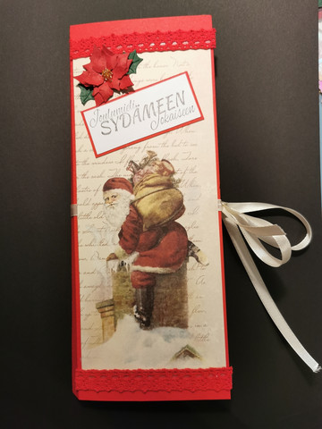 Vintage Santa Clause chocolate bar card
