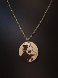 Round Brown Plague Doctor Necklace