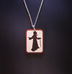 Dark red Plague Doctor Necklace
