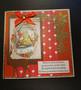 Elf and deer Christmas card