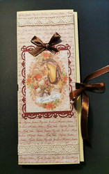 Elf and horse chocolate bar card