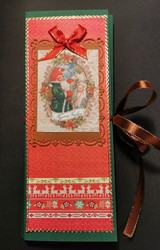 Elf and goath chocolate bar card
