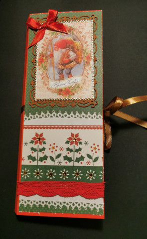 Elf chocolate bar card