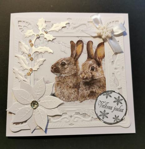 Bunnies christmas card