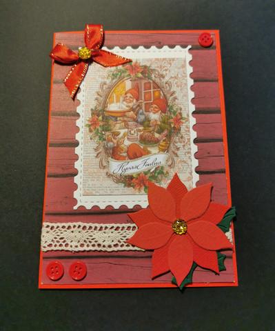 Elves Christmas card