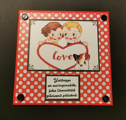 Boy and girl Valentine's day card