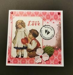 Ystävänpäiväkortti poika ja tyttö