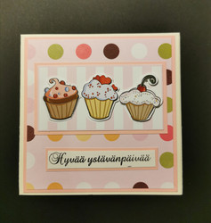 Valentine's Day Card with a cupcake