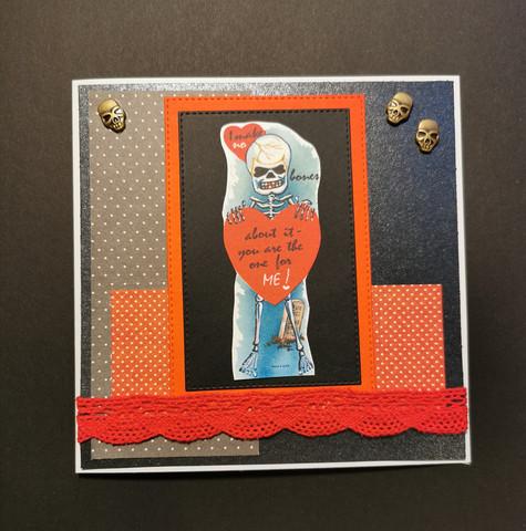 Skeleton Valentine's day card