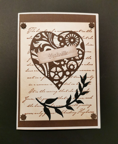 Steampunk heart valentine card