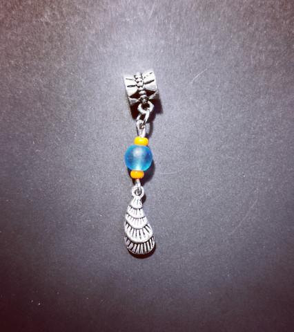 Blue feather lock jewelry