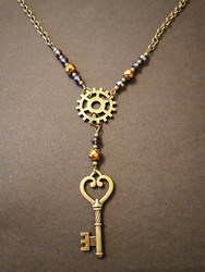 Key to a heart steampunk necklace