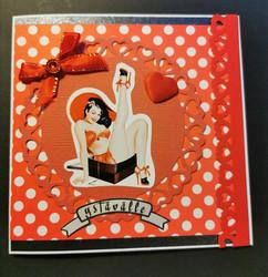 Pin-up tyttö ystävänpäiväkortti