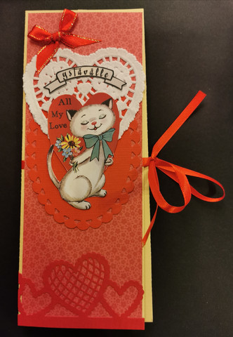 Cat chocolate bar card