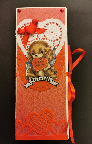 Valentine's chocolate bar card with dog