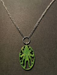 Poison green octopus necklace