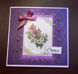 Kortti kukkakimppu violetti