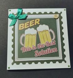 Ale-themed card