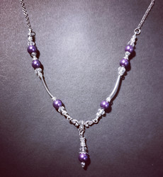 Violet winter necklace