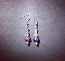 Violet winter earrings