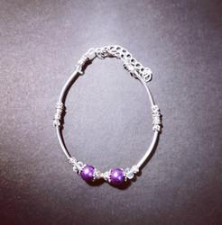 Violet winter bracelet