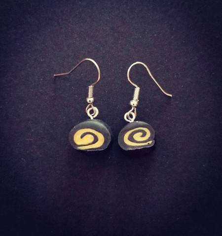 Black liqourice earrings