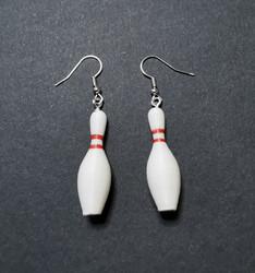 Bowling pin earrings