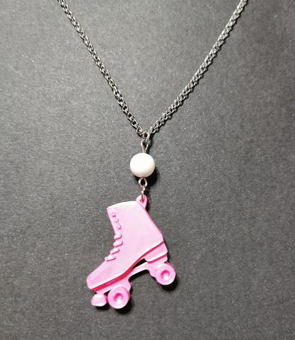 Roller skate necklace