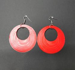 Large red earrings