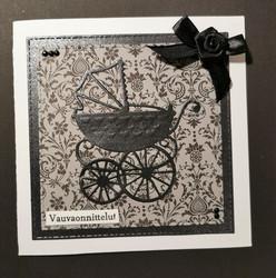 Vauvakortti mustat vaunut