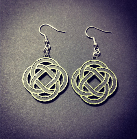 Green celt symbol earrings
