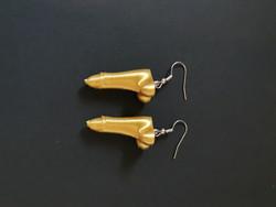 Golden penis earrings