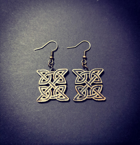 Bronze colored celt earrings