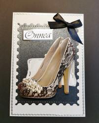 Lace shoes card