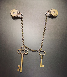 Steampunk Keys jewelry for clothes